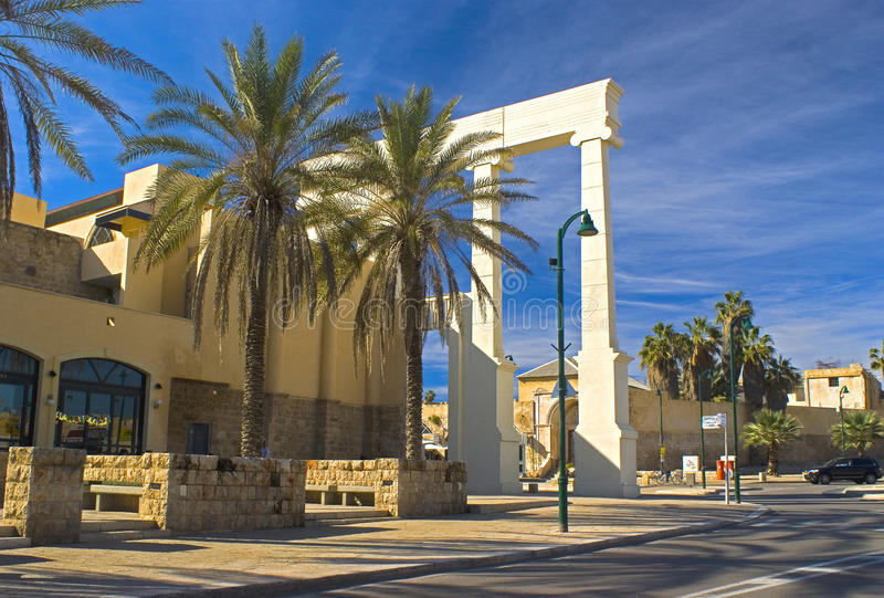 Center of Jaffa. Center of old Jaffa near the port and the flea market royalty free stock photo