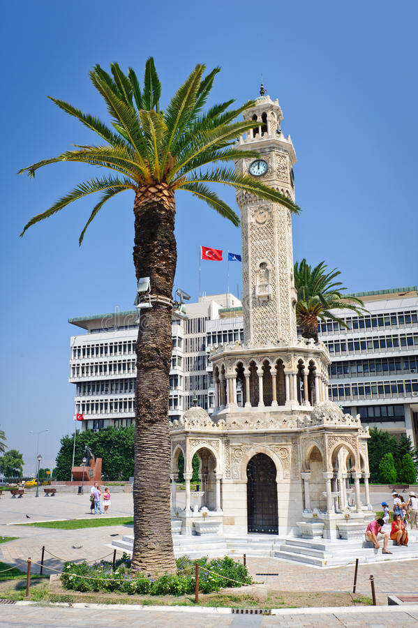 Center of Konak, Izmir province of Turkey. Adminstrative center of Konak, Izmir province of Turkey royalty free stock photography
