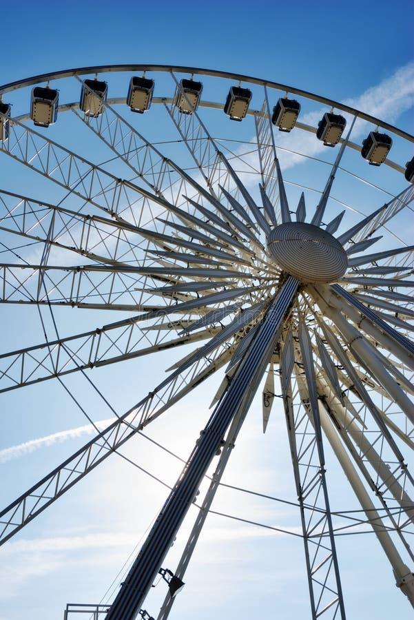 Download Center Of Large Ferris Wheel Stock Photo - Image of entertainment, enjoyment: 23876244