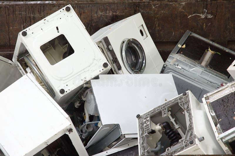 center maskiner som återanvänder tvätt royaltyfri foto