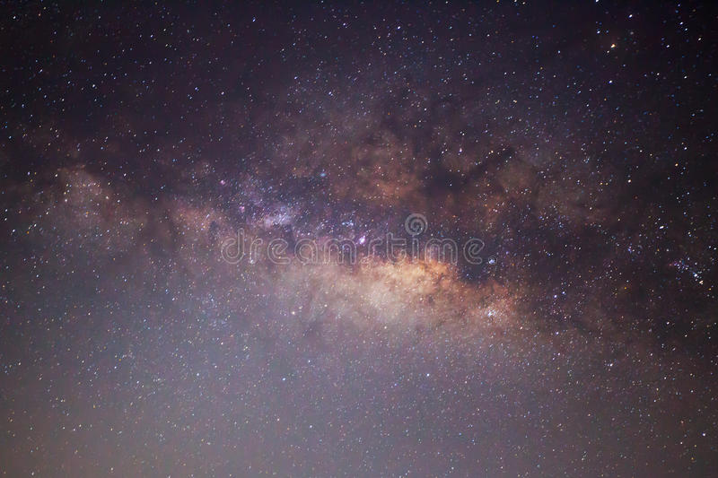 The center of the milky way galaxy, Long exposure photograph.  royalty free stock images