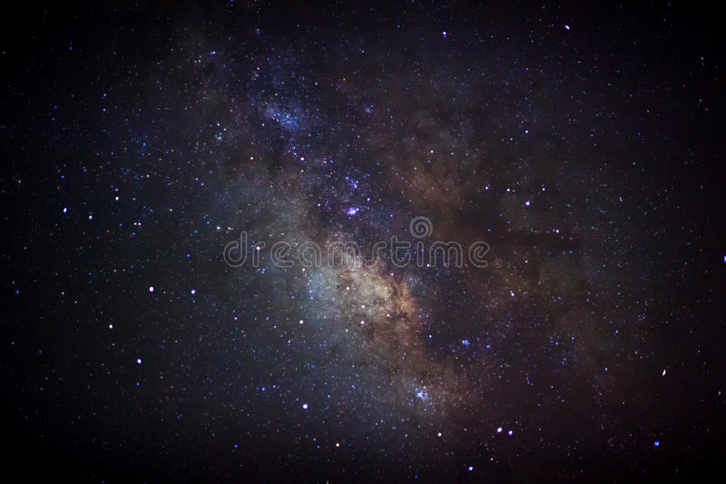 Download The Center Of The Milky Way Galaxy, Long Exposure Photograph Stock Image - Image of astrophotography, calm: 53784007