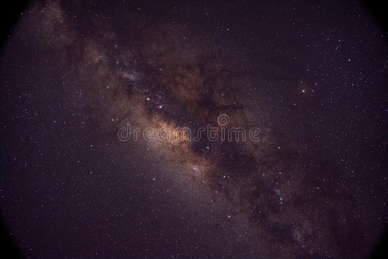 Center of Milky way galaxy royalty free stock images