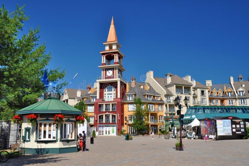 Center of the Mont-Tremblant Ski Resort royalty free stock photo