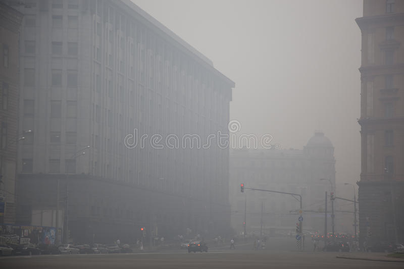 Download The Center Of Moscow Is In Smoke Editorial Image - Image: 15471360