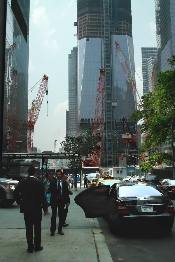 center ny rekonstruktionhandelvärld york royaltyfri bild
