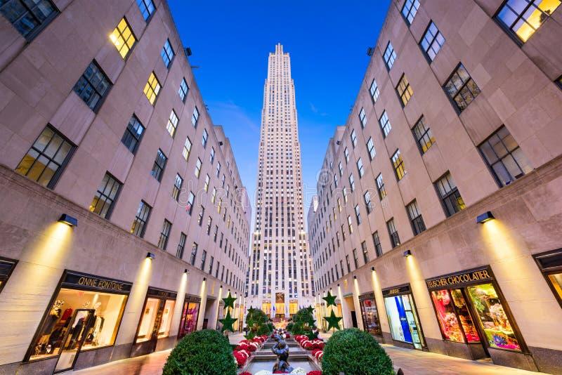 center nya rockefeller york royaltyfri fotografi