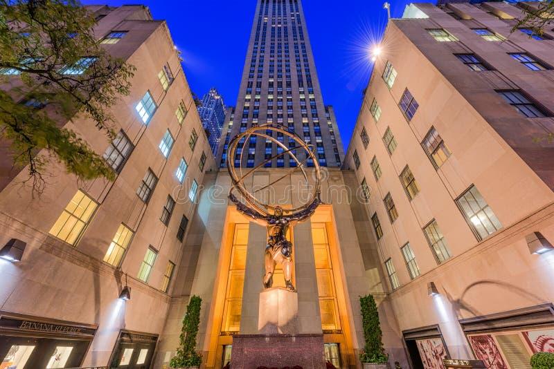 center nya rockefeller york royaltyfri foto
