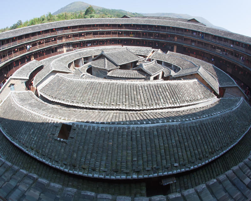 Download The Center Part Of Hakka Earth Building Stock Photo - Image: 17206046