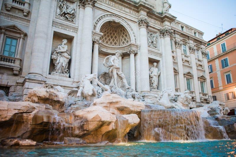 Center of Rome.Old fountain. fountain de trevi. Rome stock photos