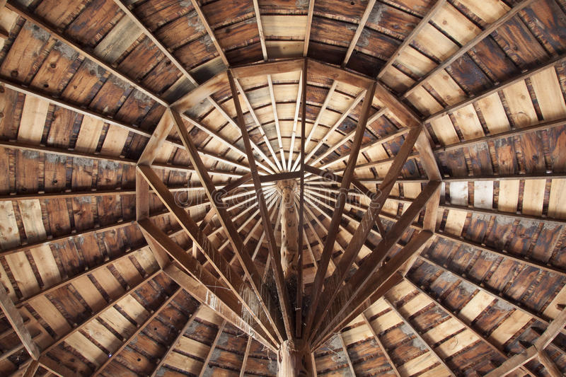 Center of Round Barn royalty free stock images