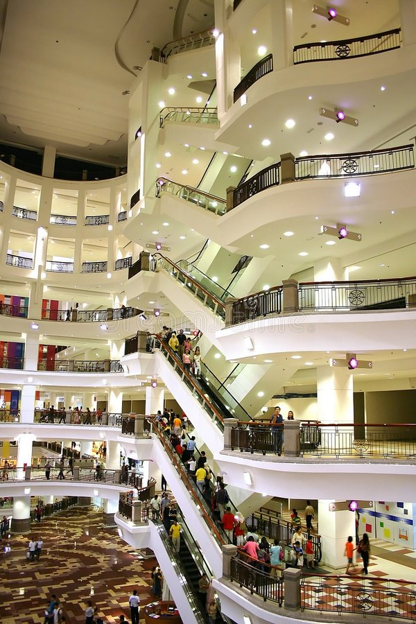 center shopping royaltyfria bilder