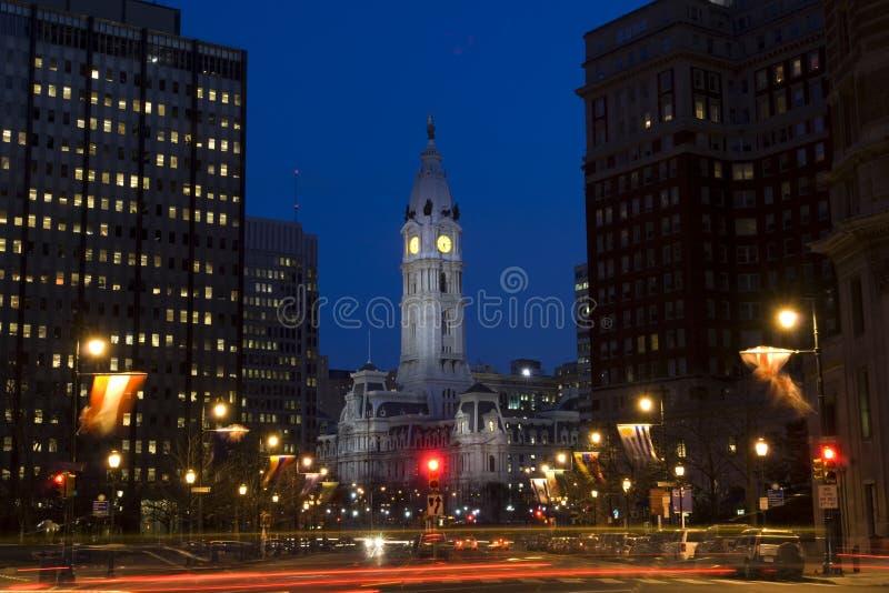 center stad philadelphia royaltyfri fotografi