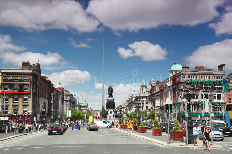 center stadsdublin spire royaltyfria foton