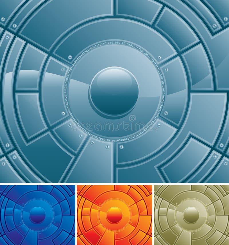 center tech vektor illustrationer