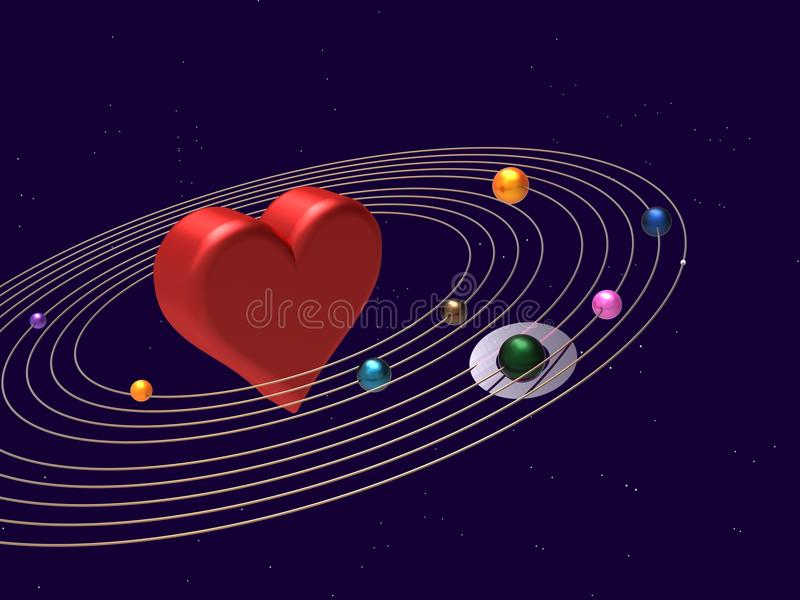 The Center Of The Universe stock illustration