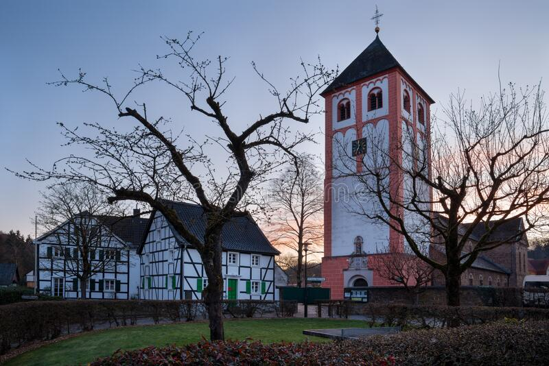 Center of Odenthal, small village close to Bergisch Gladbach, Germany royalty free stock images