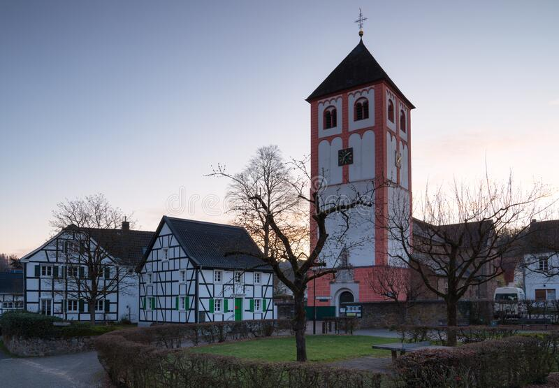 Center of Odenthal, small village close to Bergisch Gladbach, Germany stock images