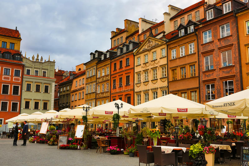 Center of Warsaw stock images