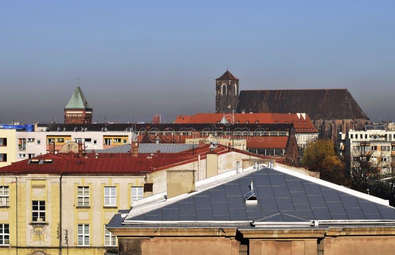 Center Wroclaw Royaltyfria Foton