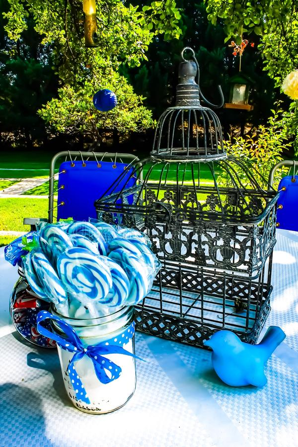 It& x27;s a boy. Centerpiece for baby shower royalty free stock images