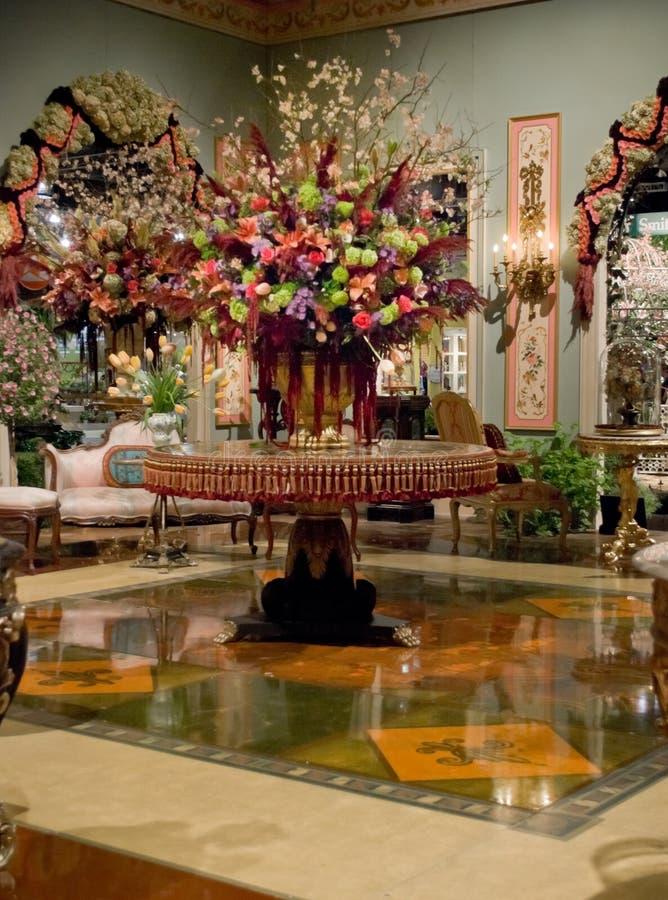 centerpiece kwiatu przedstawienie obraz stock