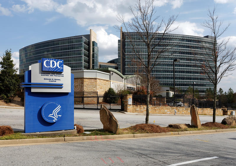 Centers for Disease Control and Prevention Headquarters. Unincorporated Dekalb County, Georgia, USA – March 30, 2013: An entrance to the United States royalty free stock images