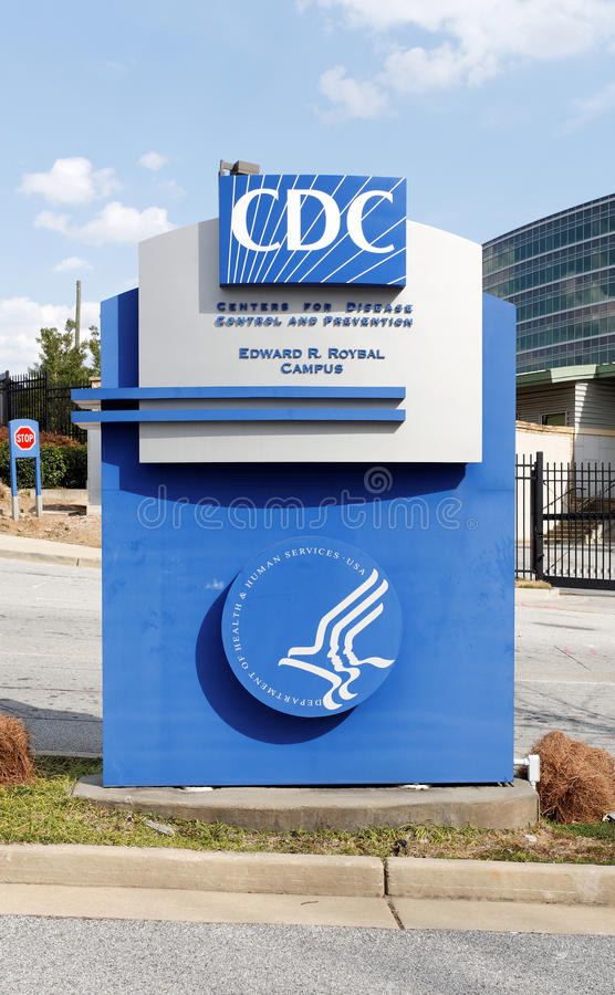 Centers for Disease Control and Prevention Headquarters. Unincorporated Dekalb County, Georgia, USA – March 30, 2013: An entrance to the United States royalty free stock photography