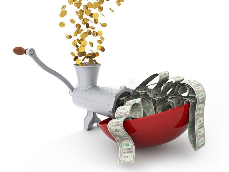 Centesimi che fanno i dollari illustrazione di stock