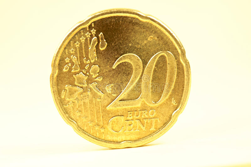 centesimo dell'euro 20 fotografie stock