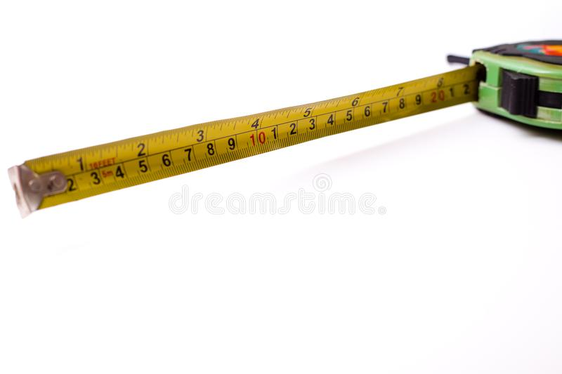 Measuring ruler. A centimeter measuring ruler on white background royalty free stock images