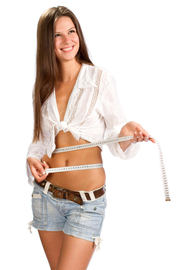 Download Centimeter in young girls stock photo. Image of waist - 22009758