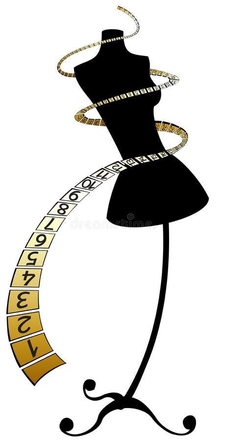 centimetric falskt guldband royaltyfri illustrationer