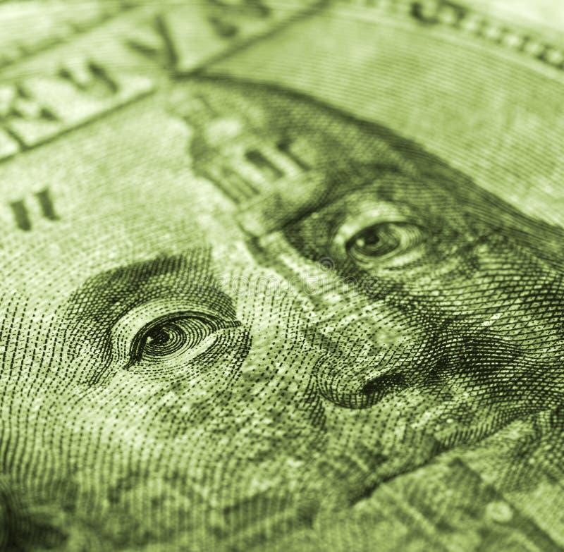 Cento colpi di macro della fattura del dollaro immagini stock libere da diritti
