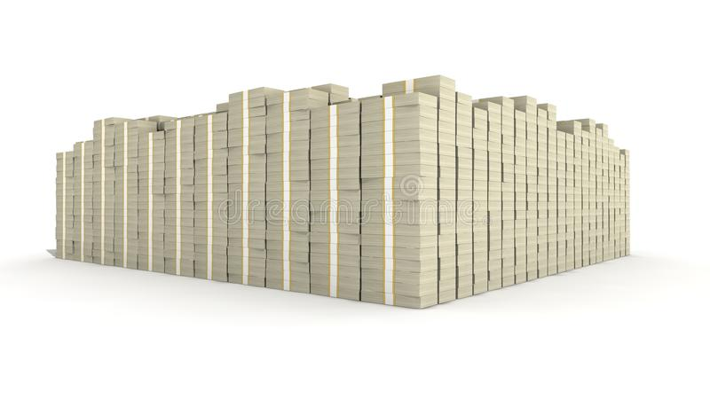 Cento dollari Bill Stacks immagine stock