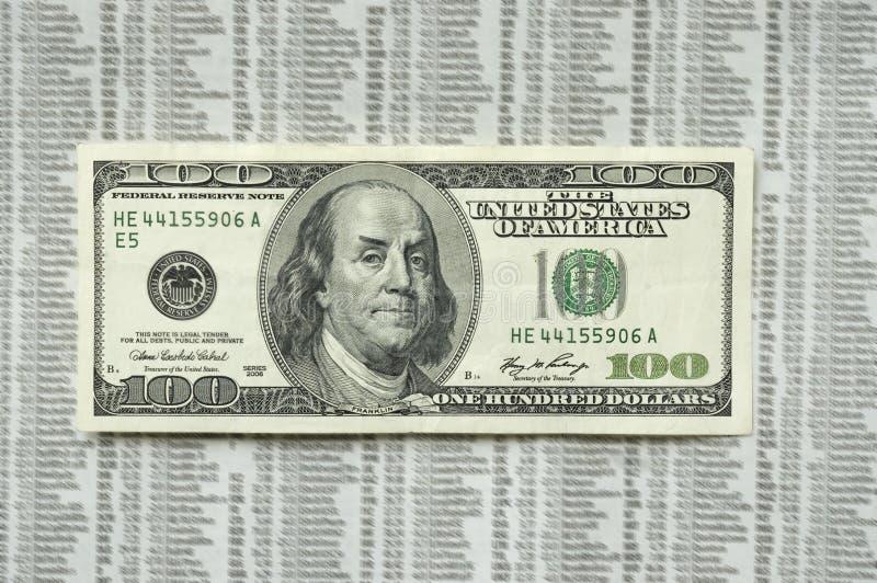 Cento fatture arrabbiata del dollaro. immagini stock libere da diritti