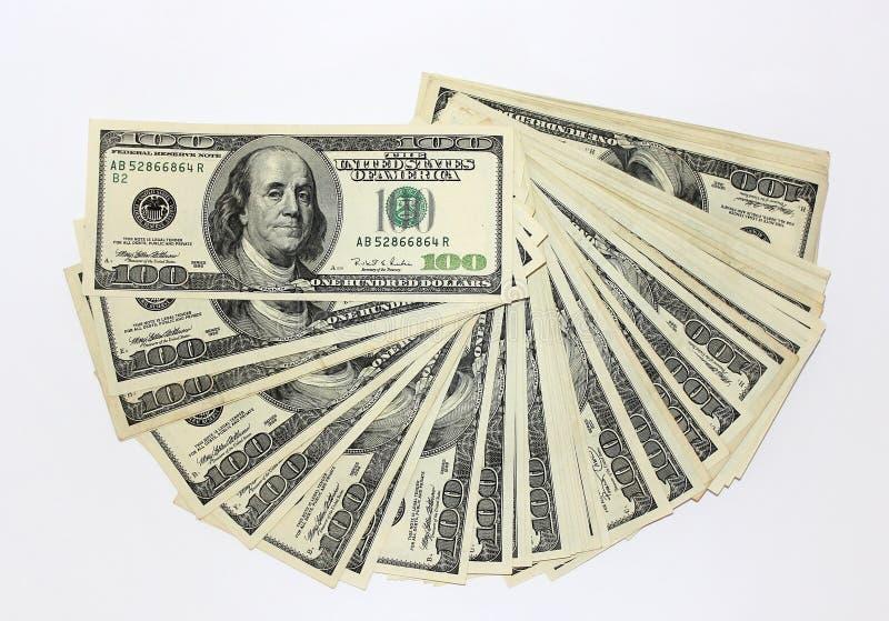 Cento note del dollaro immagini stock