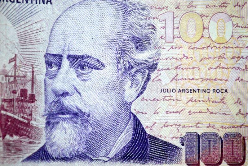 Cento roca di argentino dell'argentina Julio dei pesi fotografia stock libera da diritti