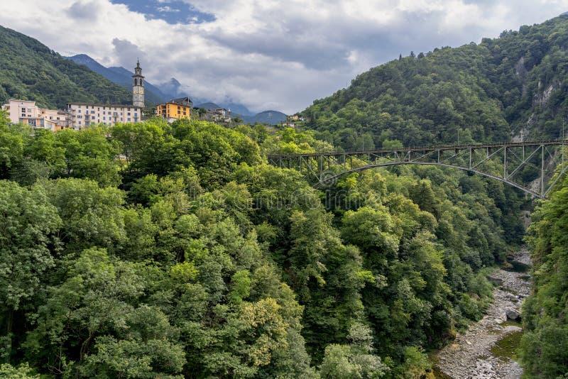 Centovalli Ticino, Switzerland near Intragna stock photography