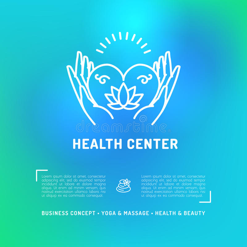 Centrów Medycznych zdrowie karta, ulotki piękna salon, zdroju masażu studio ilustracji