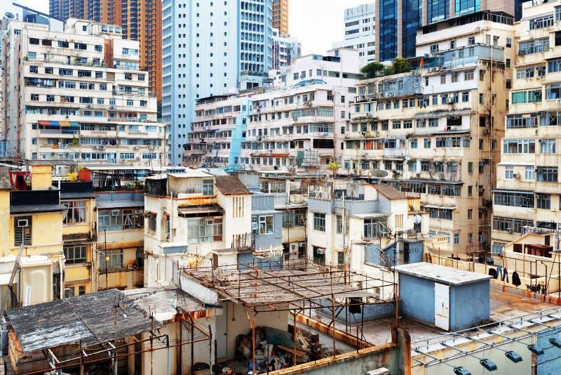 Centra av Hong Kong arkivbilder