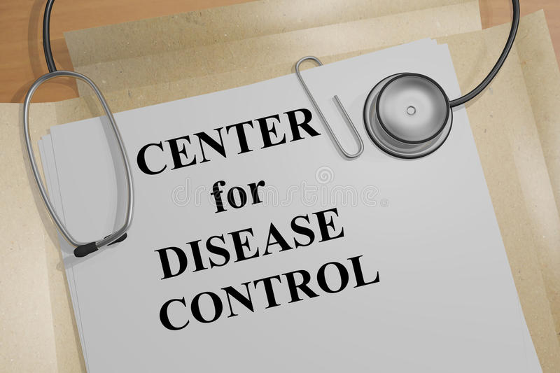 Centra voor het concept van de Ziektecontrole royalty-vrije illustratie