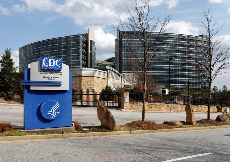Centra voor van de Ziektecontrole en Preventie Hoofdkwartier royalty-vrije stock afbeeldingen