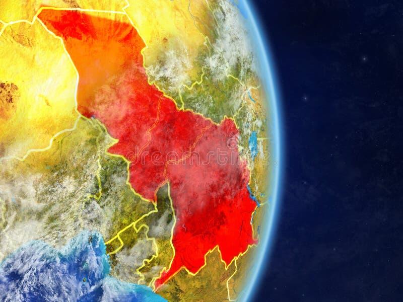 Centraal-Afrika op aarde stock foto