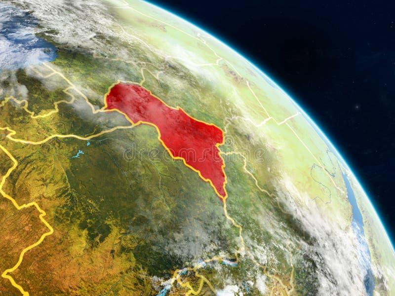 Centraal-Afrika van ruimte vector illustratie