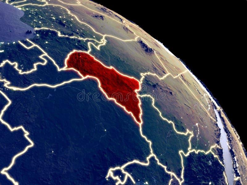 Centraal-Afrika van ruimte royalty-vrije illustratie