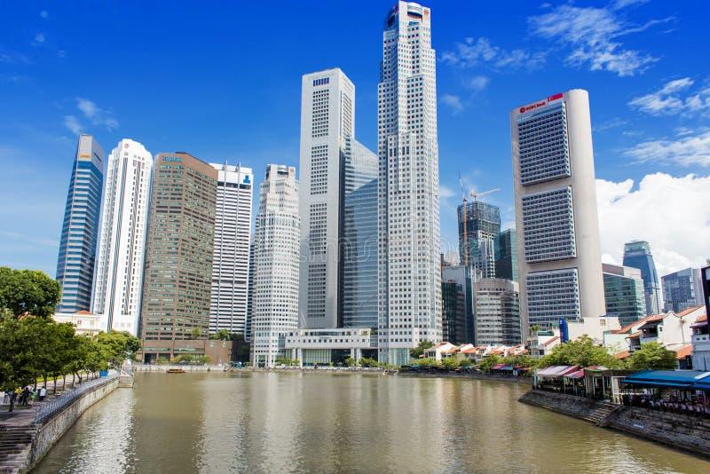 Centraal bedrijfsdistrict in Singapore royalty-vrije stock afbeeldingen