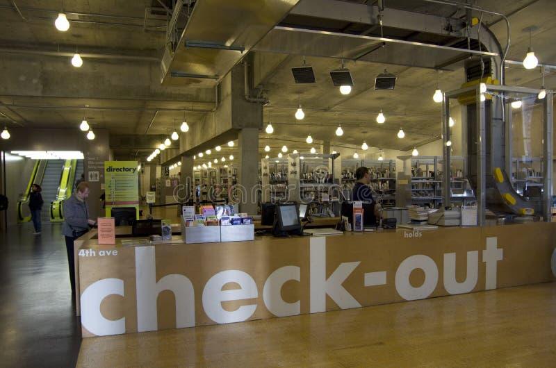 Centraal de Bibliotheekbinnenland van Seattle royalty-vrije stock afbeeldingen