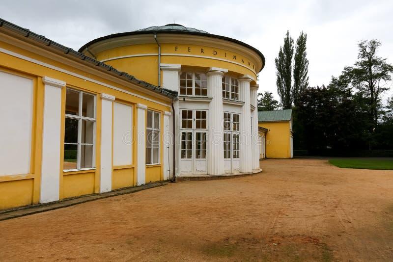 Centraal deel van het Ferdinand Spring-paviljoen royalty-vrije stock afbeeldingen