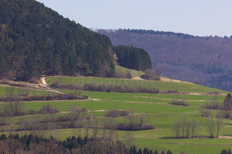 Centraal Duits Hoogland stock afbeelding